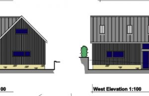 Workshop replaced with industrial styled dwelling – Crockerton, Wiltshire