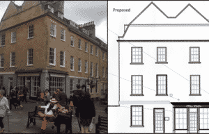 Conversion of listed building to café and retail premises – 7 York Street, Bath